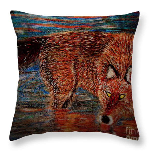 Back Off Throw Pillow by M and L Creations