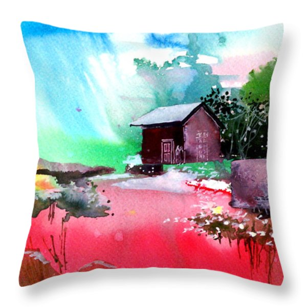 Back To Pavilion Throw Pillow by Anil Nene
