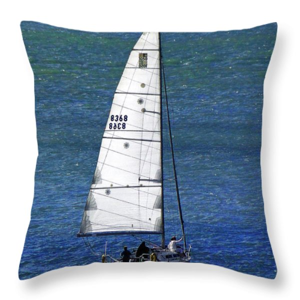 Backlit By The Sun Throw Pillow by Sue Melvin