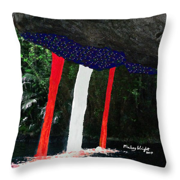 Backside Of Freedom II Throw Pillow by Mickey Wright