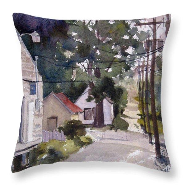 Backstreet Throw Pillow by Kris Parins