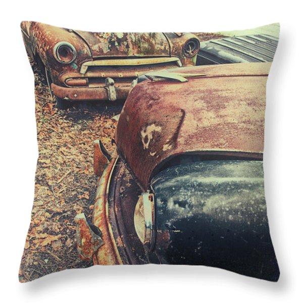 Backyard Classics Throw Pillow by Karol  Livote