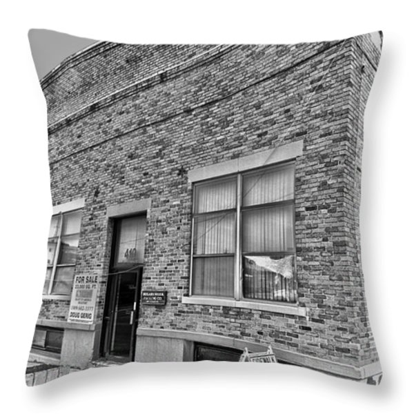 Bacon Building Throw Pillow by Alan Look