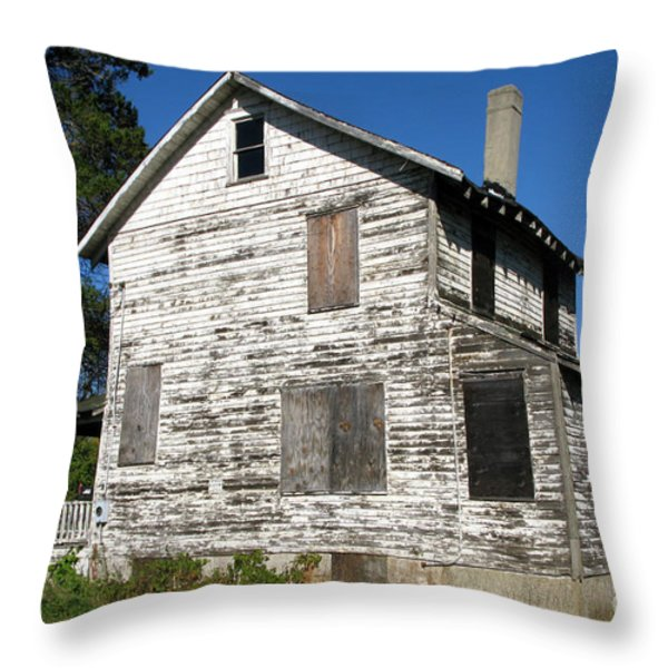 Bad Real Estate Throw Pillow by Olivier Le Queinec