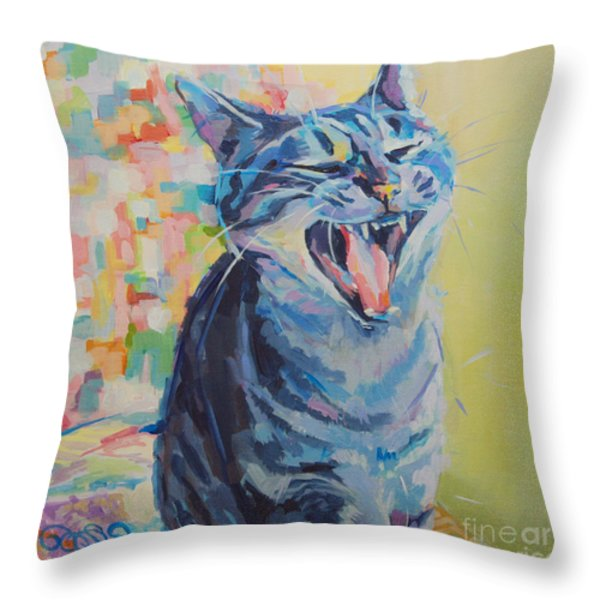 Bah Humbug Throw Pillow by Kimberly Santini