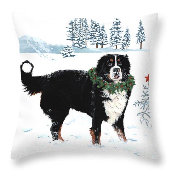 Bah Humbug Merry Christmas large Throw Pillow by Liane Weyers