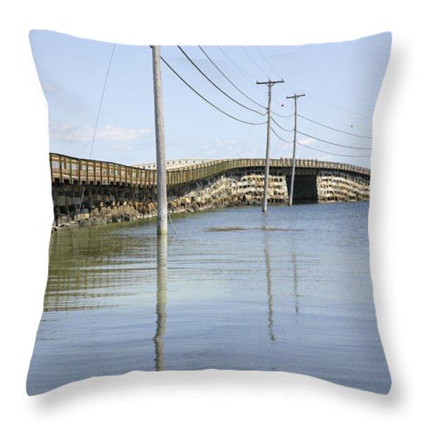 Bailey Island Bridge - Harpswell Maine USA Throw Pillow by Erin Paul Donovan