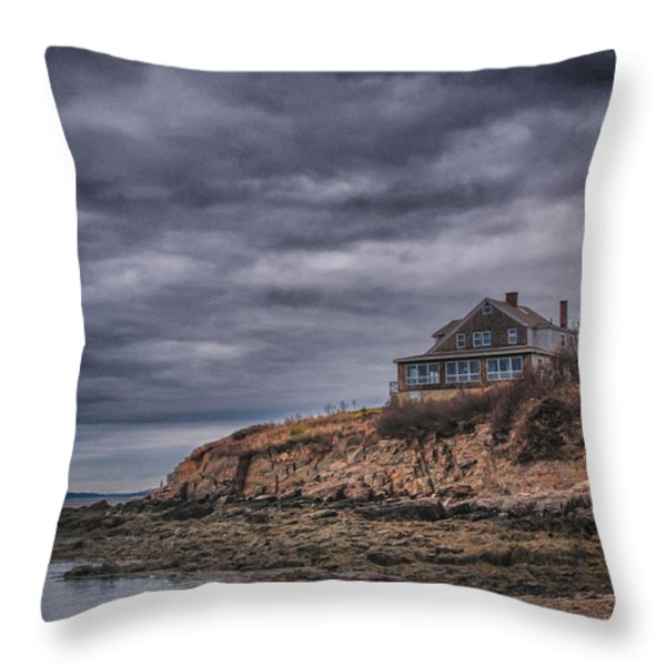 Bailey's Island 14342c Throw Pillow by Guy Whiteley