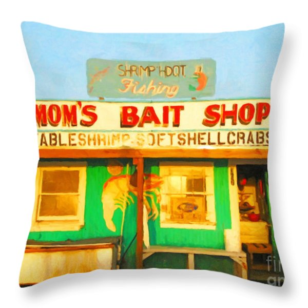 Bait Shop 20130309-1 Throw Pillow by Wingsdomain Art and Photography