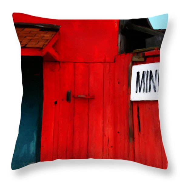 Bait Shop 20130309-2 Throw Pillow by Wingsdomain Art and Photography