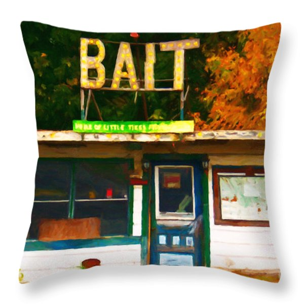 Bait Shop 20130309-3 Throw Pillow by Wingsdomain Art and Photography