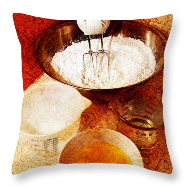 Bake Me A Cake Throw Pillow by Andee Design