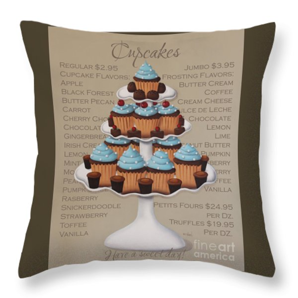 Baked Fresh Daily Throw Pillow by Catherine Holman