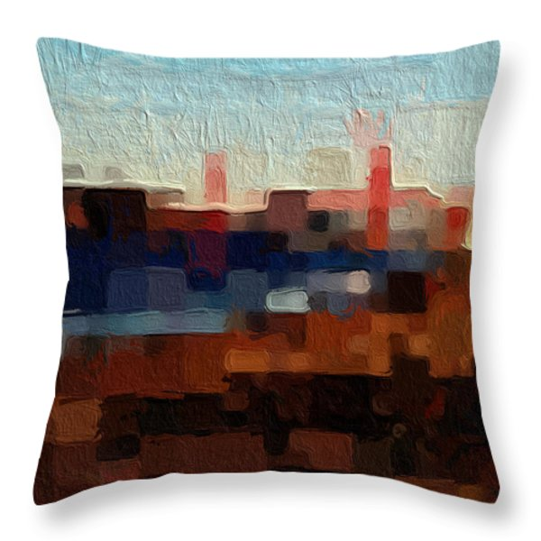 Baker Beach Throw Pillow by Linda Woods