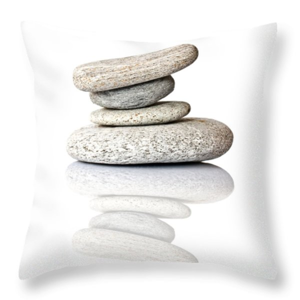 Balanced Throw Pillow by Delphimages Photo Creations