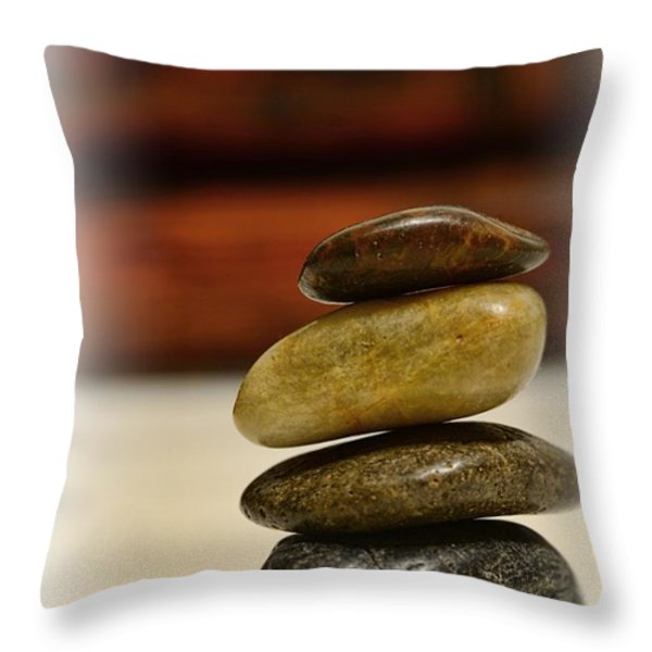 Balanced Throw Pillow by Paul Ward