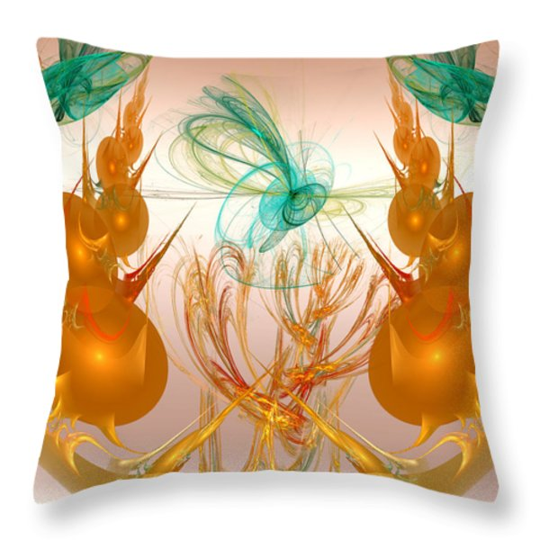 Balancing Act Throw Pillow by Camille Lopez
