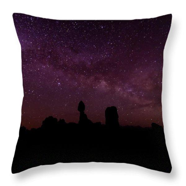 Balancing The Universe Throw Pillow by Silvio Ligutti