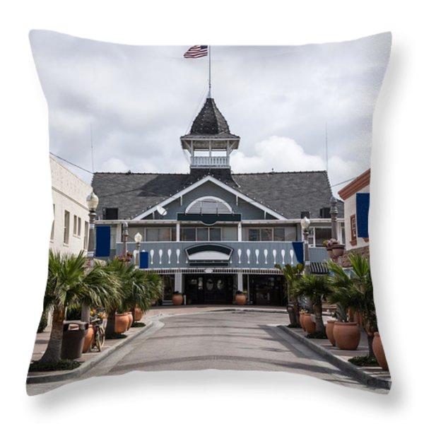 Balboa Downtown Main Street In Newport Beach Throw Pillow by Paul Velgos