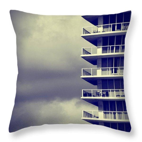 Balcony Study Throw Pillow by Amy Cicconi