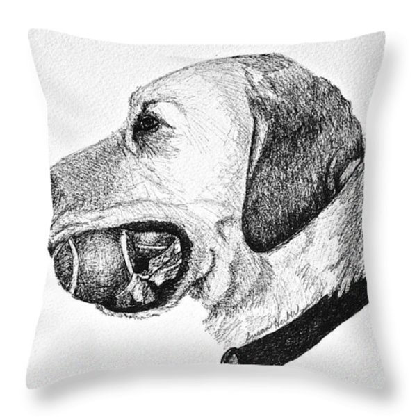 Ball Collector Throw Pillow by Susan Herber