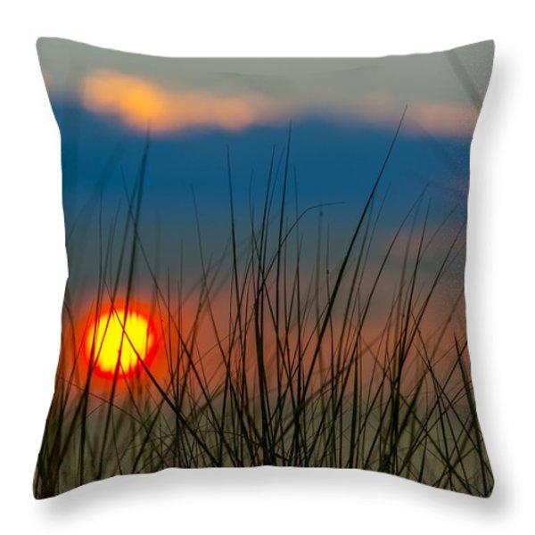 Ball Of Fire Throw Pillow by Sebastian Musial