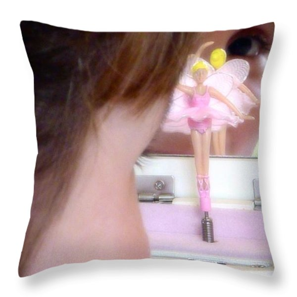 Ballerina Dreams Throw Pillow by Susan Garren