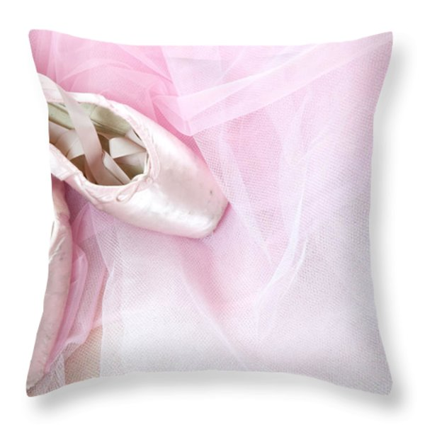 Ballerina Dreams Throw Pillow by Zina Zinchik