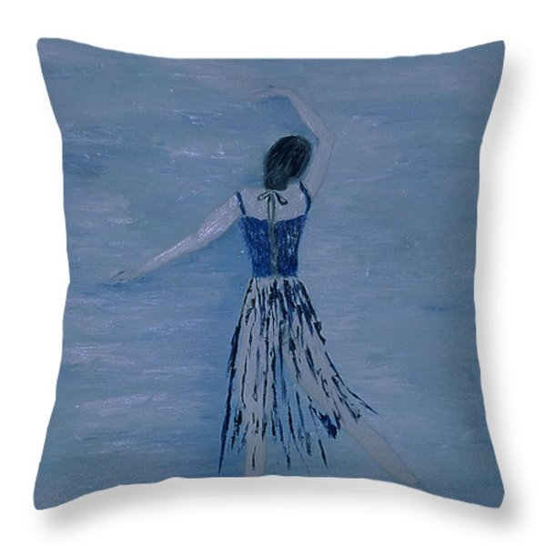 Ballerina Throw Pillow by Inge Lewis