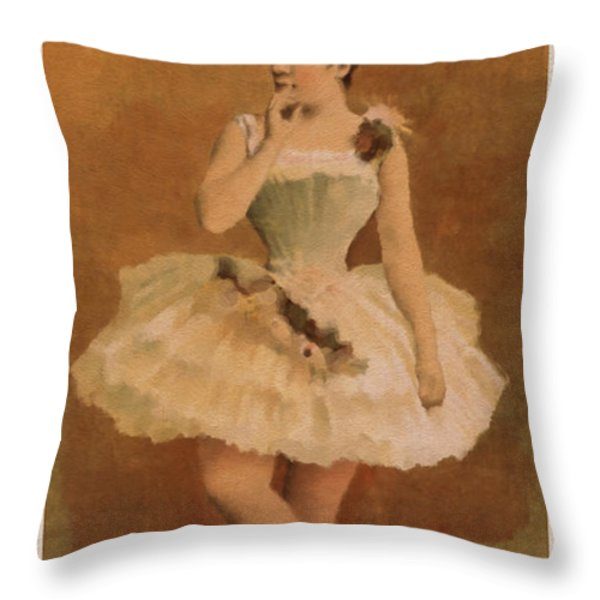 Ballet Throw Pillow by Aged Pixel