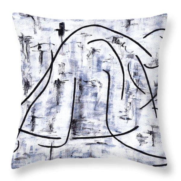 Ballet Dancer Throw Pillow by Kamil Swiatek