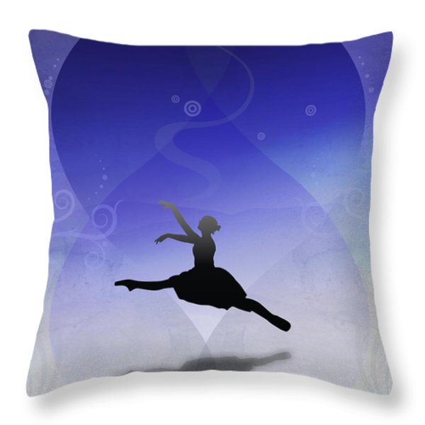 Ballet In Solitude  Throw Pillow by Bedros Awak