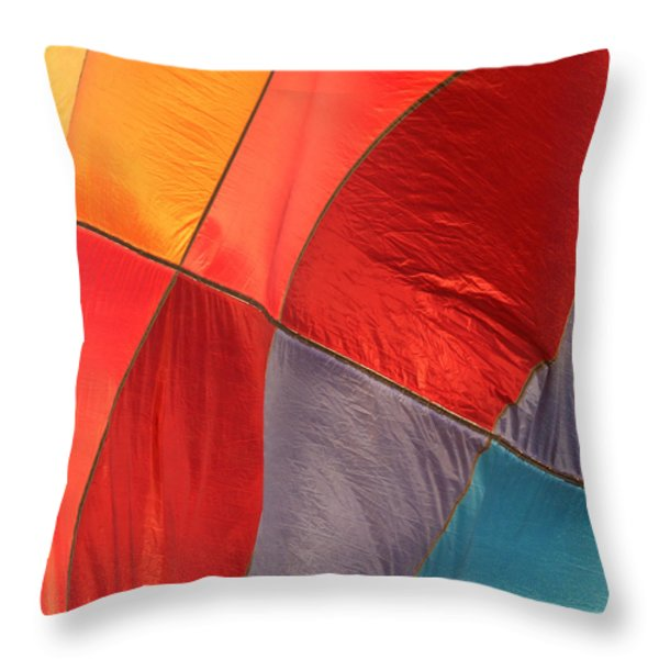 Balloon Colors Throw Pillow by Art Block Collections