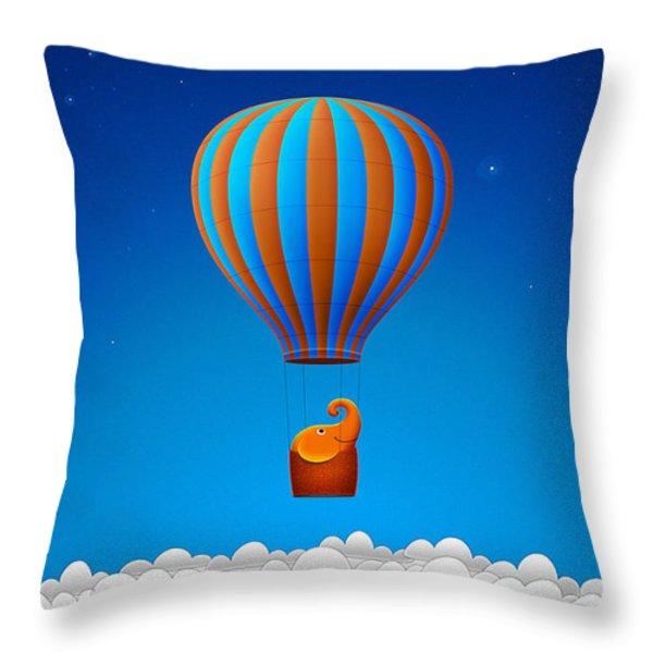 Balloon Elephant Throw Pillow by Gianfranco Weiss