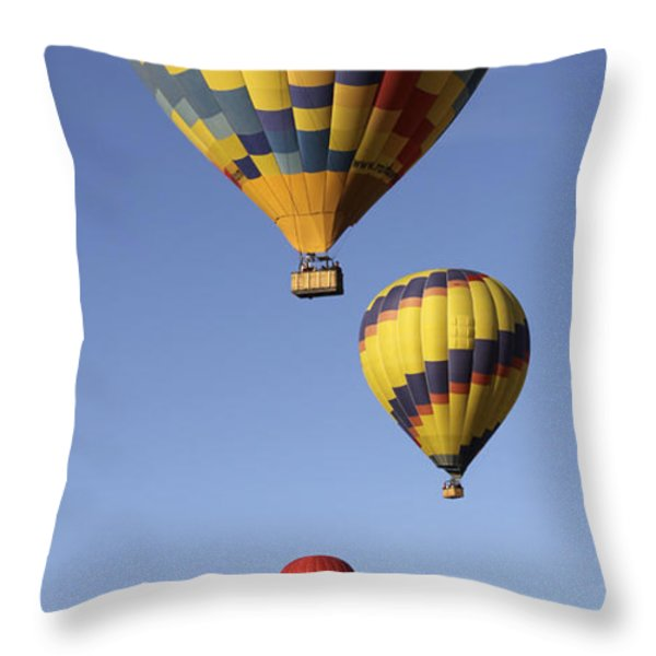Balloon Fiesta 2012 Throw Pillow by Mike McGlothlen
