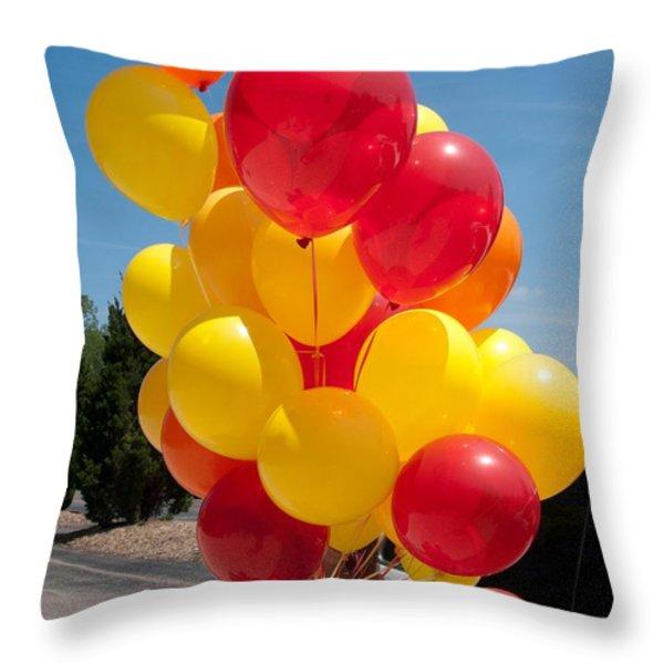 Balloon Girl Throw Pillow by Ann Horn