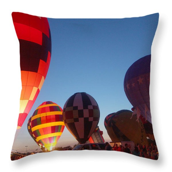 Balloon-glow-7783 Throw Pillow by Gary Gingrich Galleries