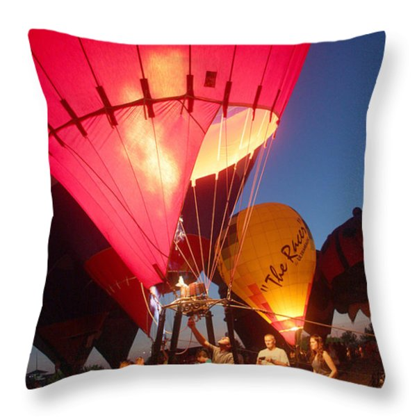 Balloon-glow-7831 Throw Pillow by Gary Gingrich Galleries