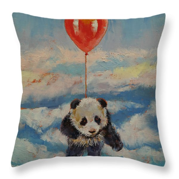 Balloon Ride Throw Pillow by Michael Creese