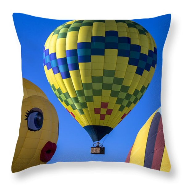 Ballooning Throw Pillow by Garry Gay