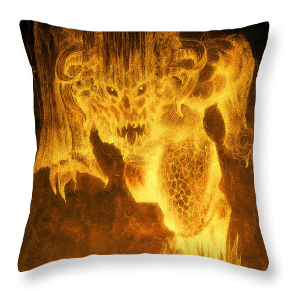 Balrog Of Morgoth Throw Pillow by Curtiss Shaffer