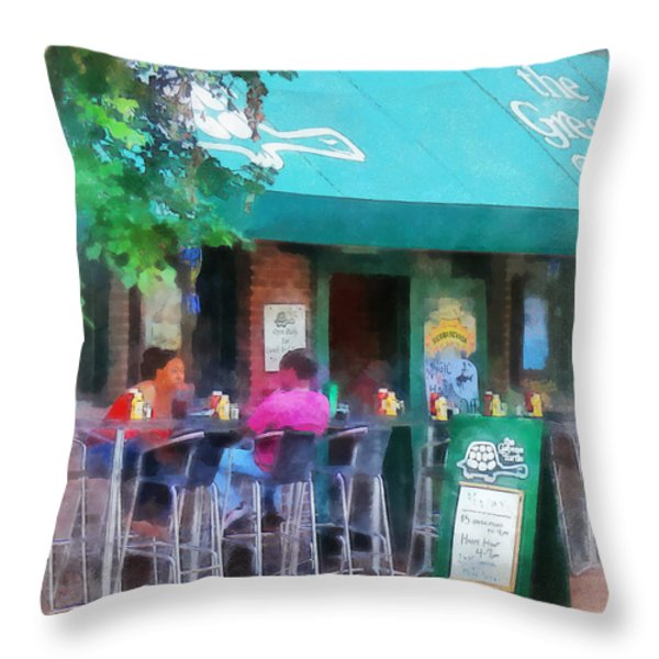 Baltimore - Happy Hour In Fells Point Throw Pillow by Susan Savad