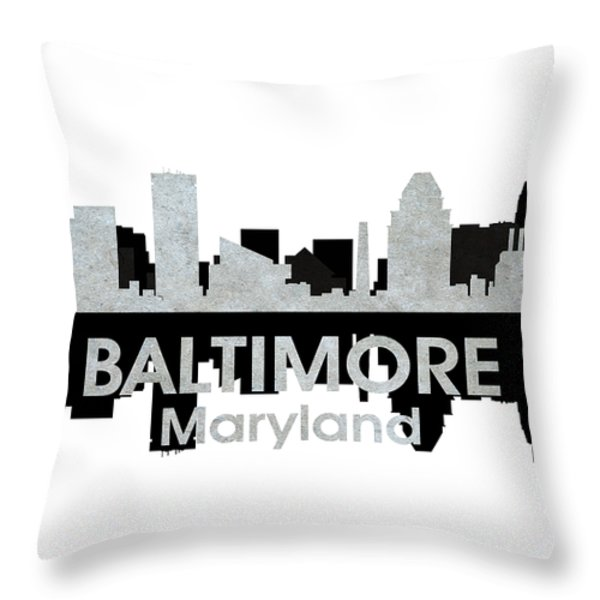 Baltimore Md 4 Throw Pillow by Angelina Vick