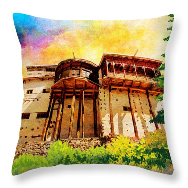 Baltit Fort Throw Pillow by Catf