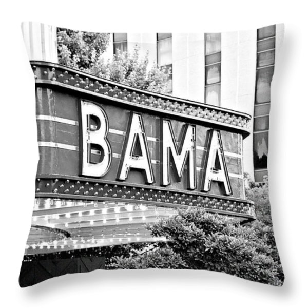 BAMA Throw Pillow by Scott Pellegrin