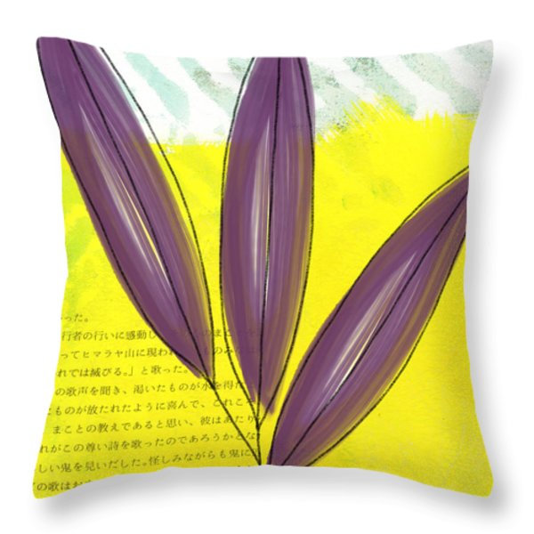 Bamboo Throw Pillow by Linda Woods