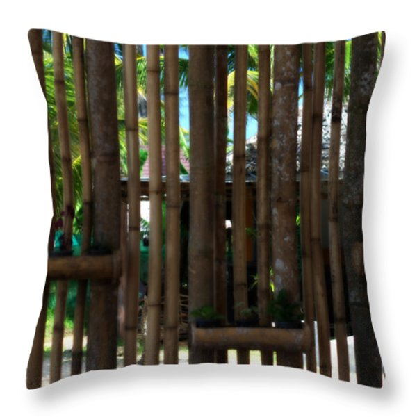 Bamboo View Throw Pillow by Nomad Art And  Design