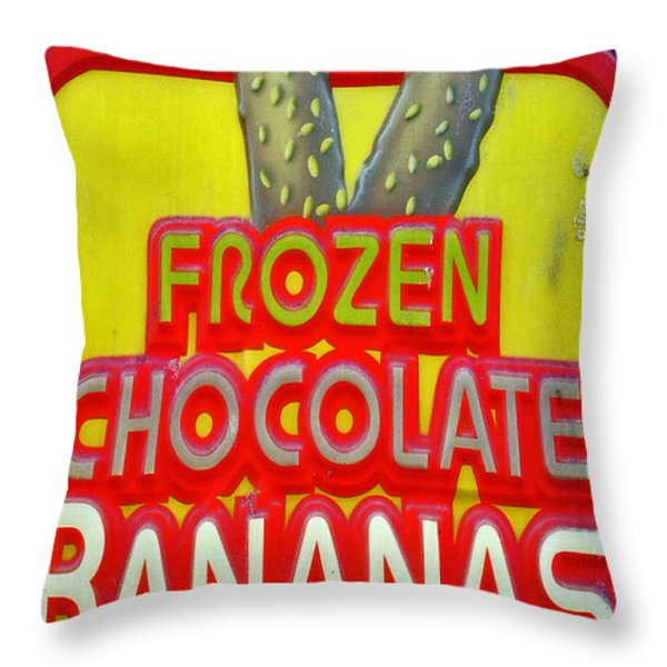 BANANAS Throw Pillow by Skip Willits