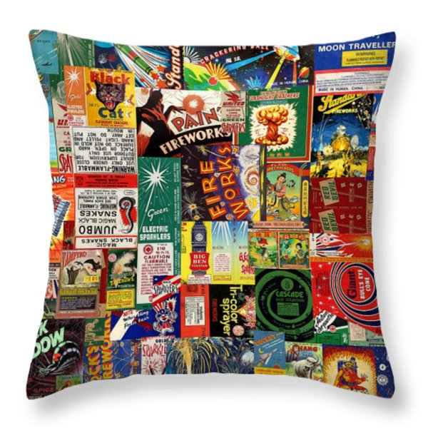 Bang Throw Pillow by Russell Pierce