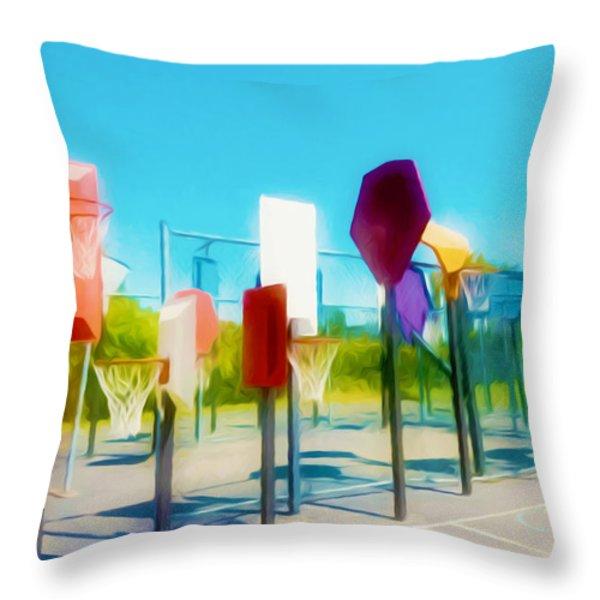 Bankshot Basketball 2 Throw Pillow by Lanjee Chee